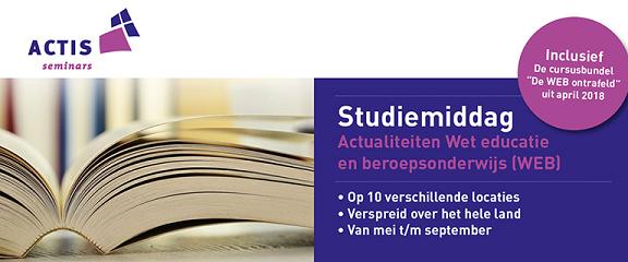 Studiemiddag Wet Educatie en Beroepsonderwijs (WEB)