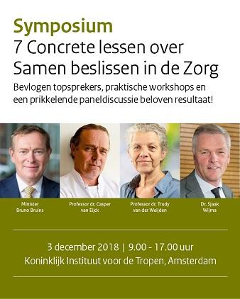 Symposium 7 Concrete lessen over Samen beslissen in de Zorg